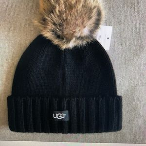 UGG Accessories - Ugg fur beanie with matching scarf